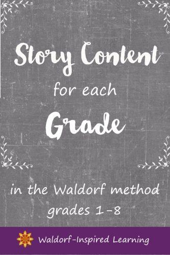 Waldorf Story Content for each Grade