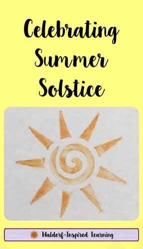 Inspiration and ideas for celebrating the summer solstice with kids. Plan a fun summer play day with friends or a backyard camp out. Happy Solstice!