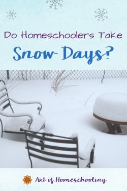 Do Homeschoolers Take Snow Days?
