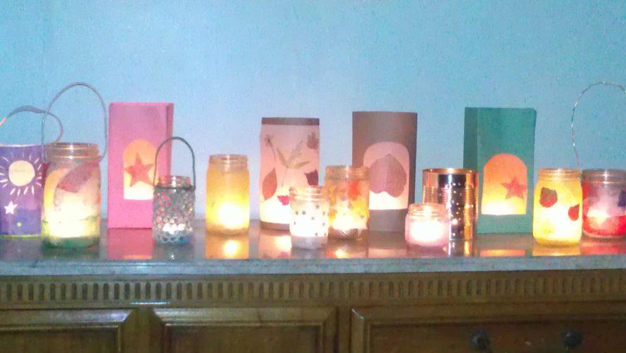 Making lanterns for your Lantern Festival
