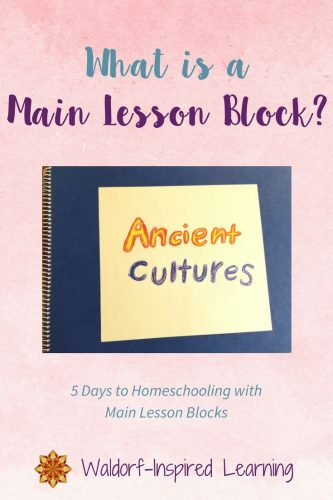 What is a Main Lesson Block?